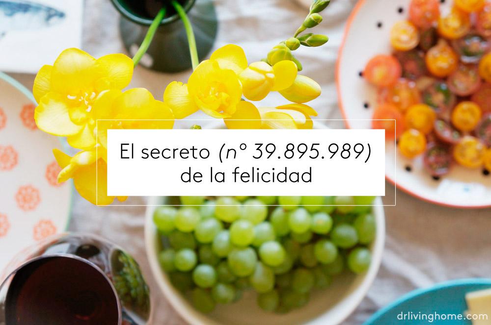 El secreto (nº 39.895.989) de la felicidad