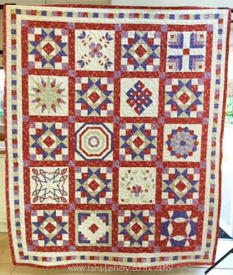 Sampler Quilt made by Dorothy
