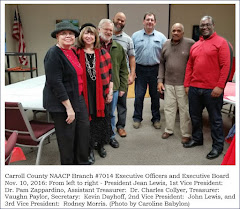 Carroll County NAACP Branch #7014 Executive Officers and Executive Board Nov. 10, 2016