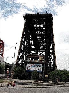 Ponte Transbordador Nicolás Avellaneda, em La Boca, Buenos Aires