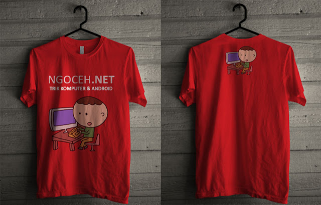 Download Template Kaos .PSD Lengan Pendek