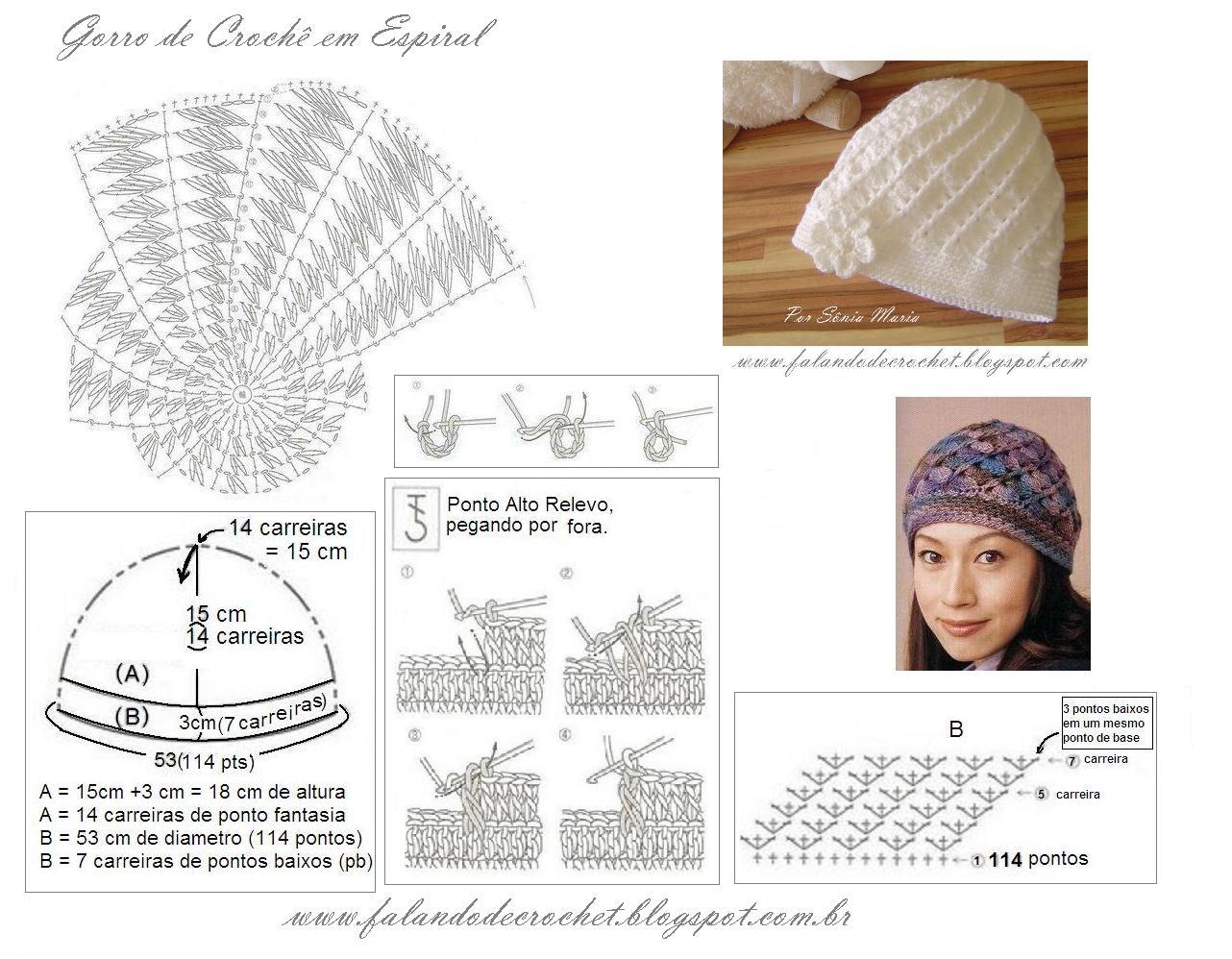 1a13f8cfdec27 FALANDO DE CROCHET  Gorro Divino (Divine Hat) - Croche - Crochet ...