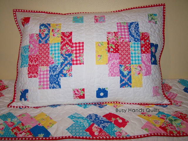 Busy Hands Quilts: Finished or Not Friday {a Linky Party!} + ... : quilted pillow sham pattern - Adamdwight.com