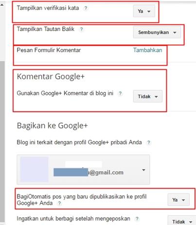 Cara Setting Blog Baru di Dasbor Blogger 7 Setelan Dasbor Blogger yang Wajib Disetting oleh Admin Blog Setelah Selesai Membuat Blog Baru
