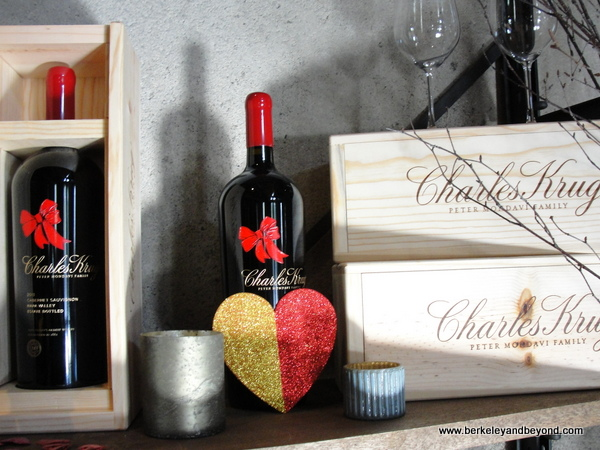 wines with heart at Charles Krug Winery in St. Helena, California