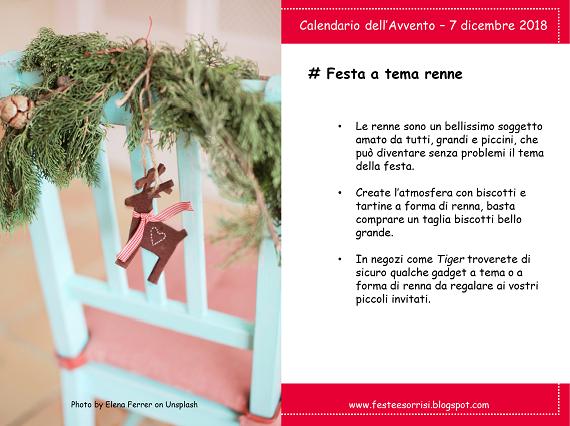 Calendario dell'Avvento - Consigli per una festa di compleanno a tema renne