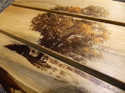 maple tree milling image transfer diy