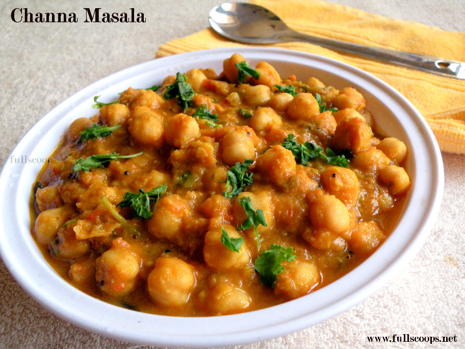 Chole Masala / Channa Masala without Coconut ~ Full Scoops