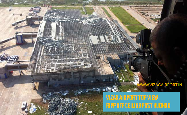 AIRPORT VISAKHAPATNAM FULL VIEW AFTER CYCLONE