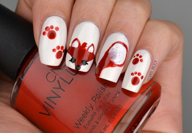 Fox nail art