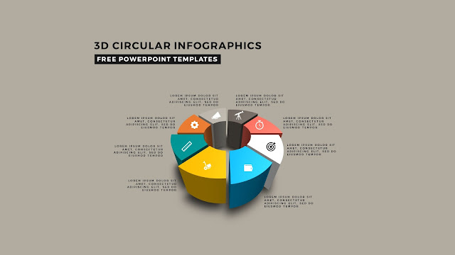3D Circular Infographic Free PowerPoint Template Slide 5