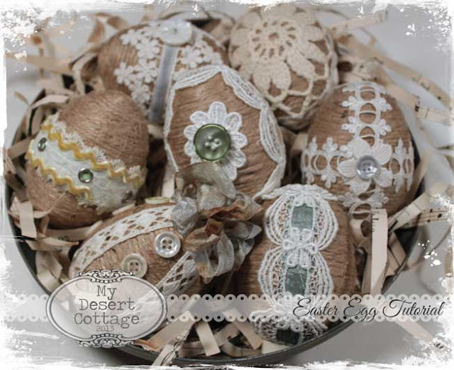 My Desert Cottage**: Twine and Lace Easter Egg Tutorial