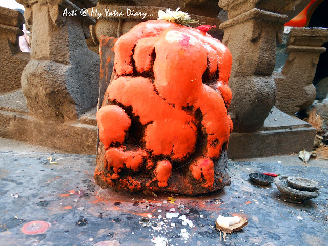 Lord Ganesha at the Bhairavnath temple, Saswad, Pune, Maharashtra
