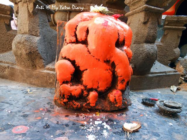 Lord Ganesha at the Bhairavnath temple, Saswad, Pune, Maharashtra