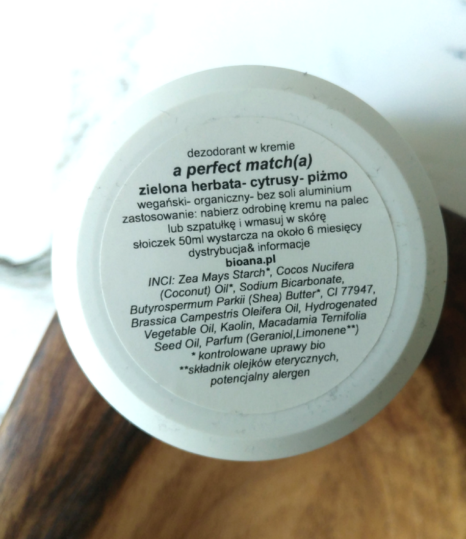 Pony Hutchen, dezodorant A Perfect Match(a) - skład inci