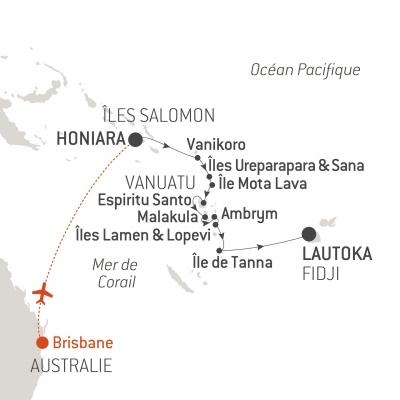 Carte Australie Et Iles Fidji.L Austral