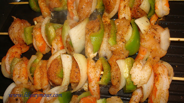 Shrimp and Chicken Kabobs