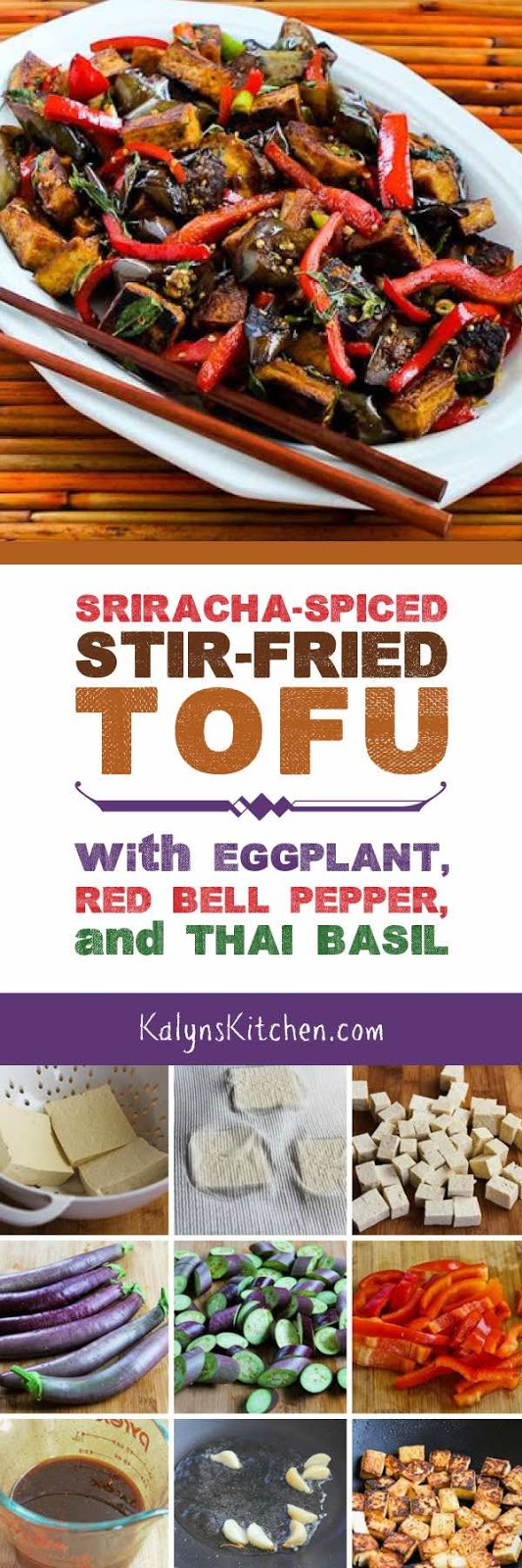 Spiced Stir-Fried Tofu with Eggplant, Red Bell Pepper, and Thai Basil ...