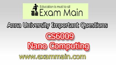 CS6009 Nano Computing