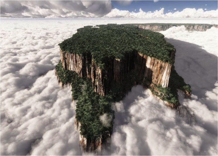 11. Monte Roraima located in Eastern Venezuela - 29 Unbelievable Locations That Look Like They're Located On Another Planet
