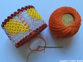 How to sew Hama beads into a circle