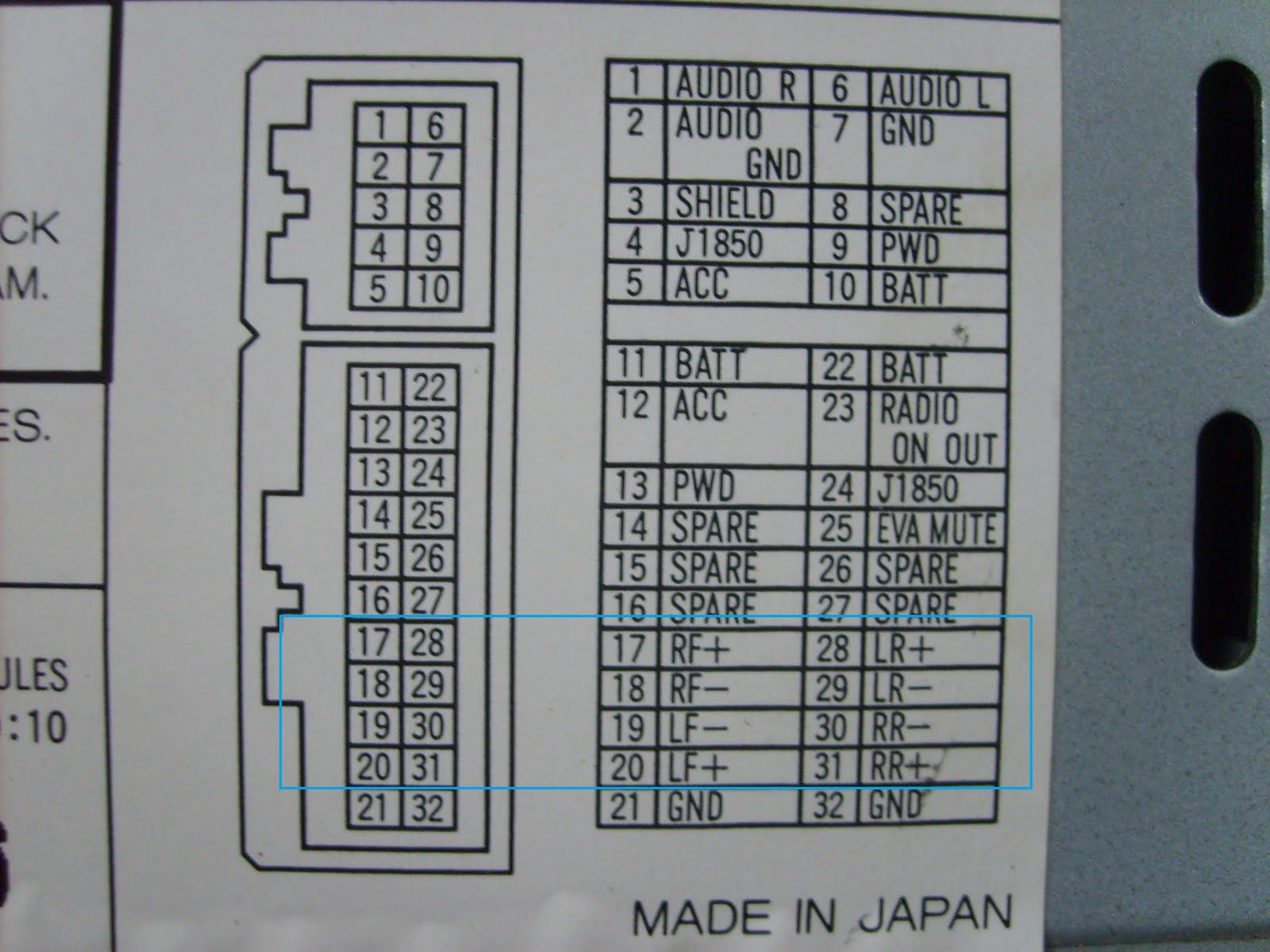 32 Pin Gm Radio Wiring Diagram - Wiring Diagram