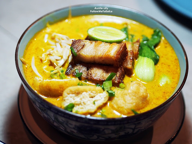 NYONYA LAKSA WITH ROASTED PORK