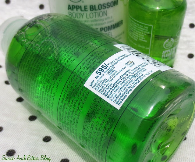 The Body Shop Apple Blossom Shower Gel Ingredients Price