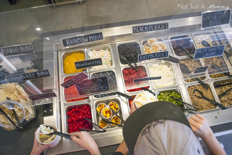 Aloha To Summer Fro-Yo Party; toppings bar