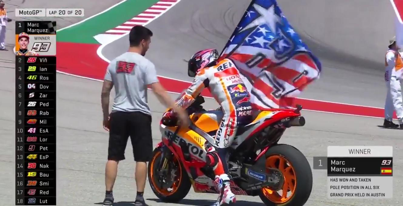 Marc Marquez Menang di MotoGP Amerika hampir Tanpa Perlawanan