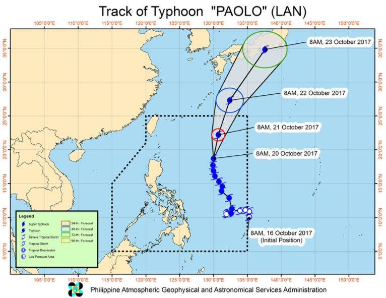 'Bagyong Paolo' PAGASA weather update October 20, 2017