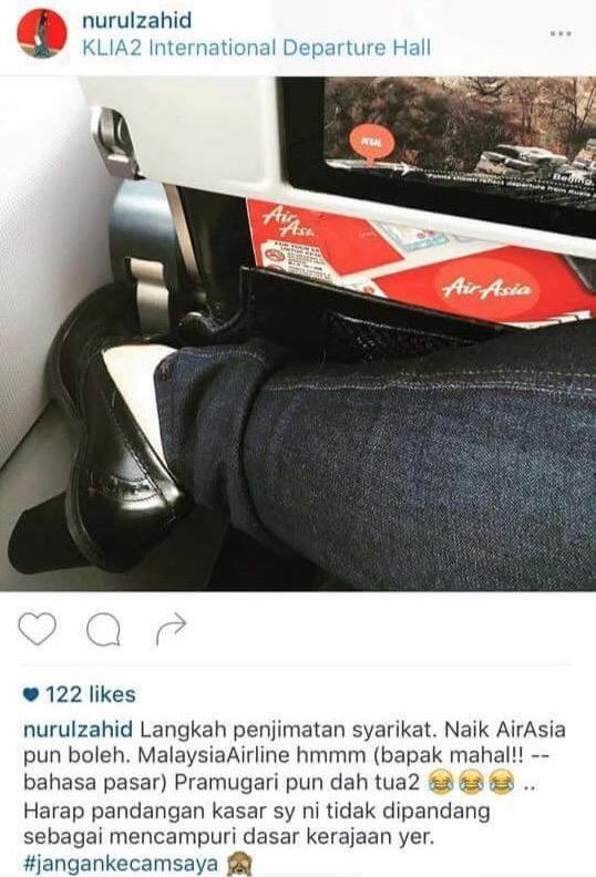 Anak Zahid Hamidi, Nurulhidayah Hina Pramugari MAS