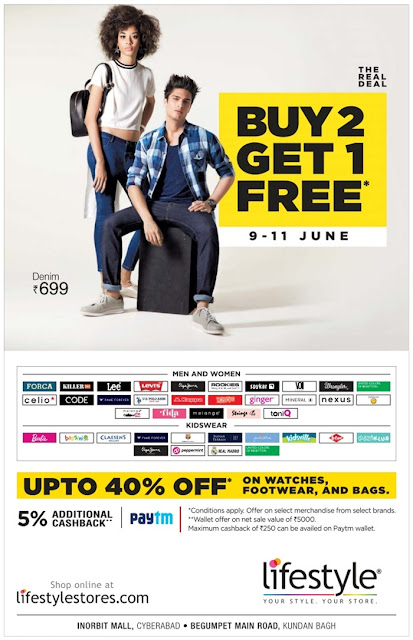 Buy 2 Get 1 free in LifeStyle | June 2017 Discount Offers