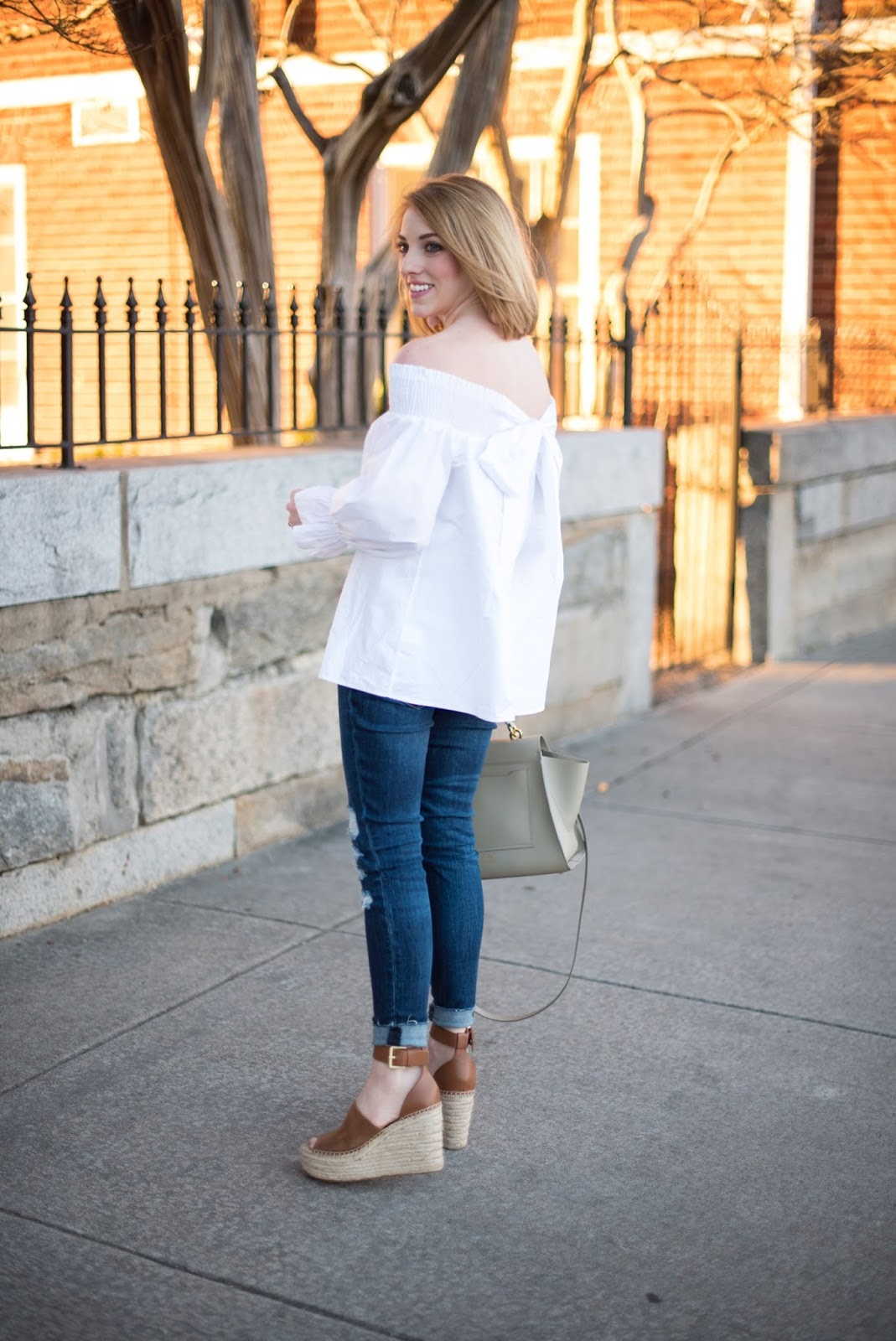 Bow-Back Off The Shoulder Top