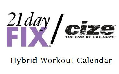 21 Day Fix and Cize Hybrid Calendar