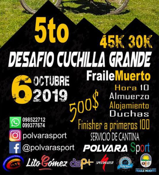 MTB - Desafío Cuchilla Grande en Fraile Muerto (Cerro Largo, 06/oct/2019)