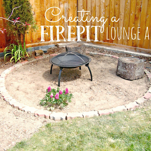 The Beginnings of a Fire Pit Lounge Area - Weekend Yard Work Series
