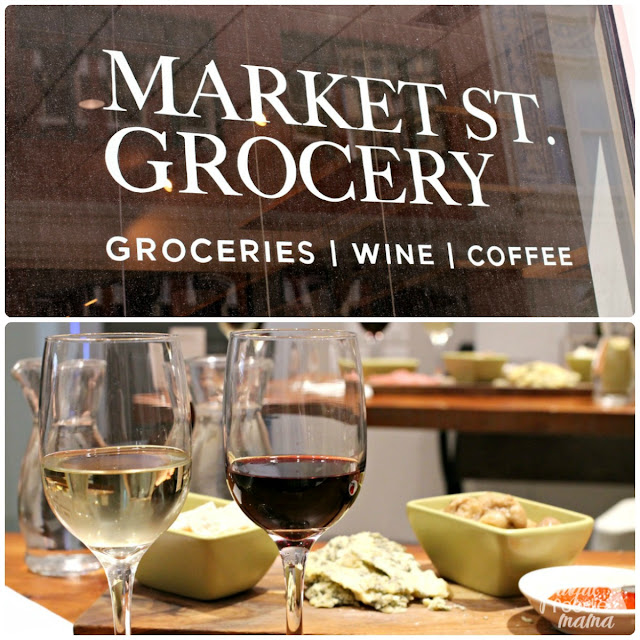 Market St. Grocery offers a full coffee bar and wine tasting room in the back for its patrons.