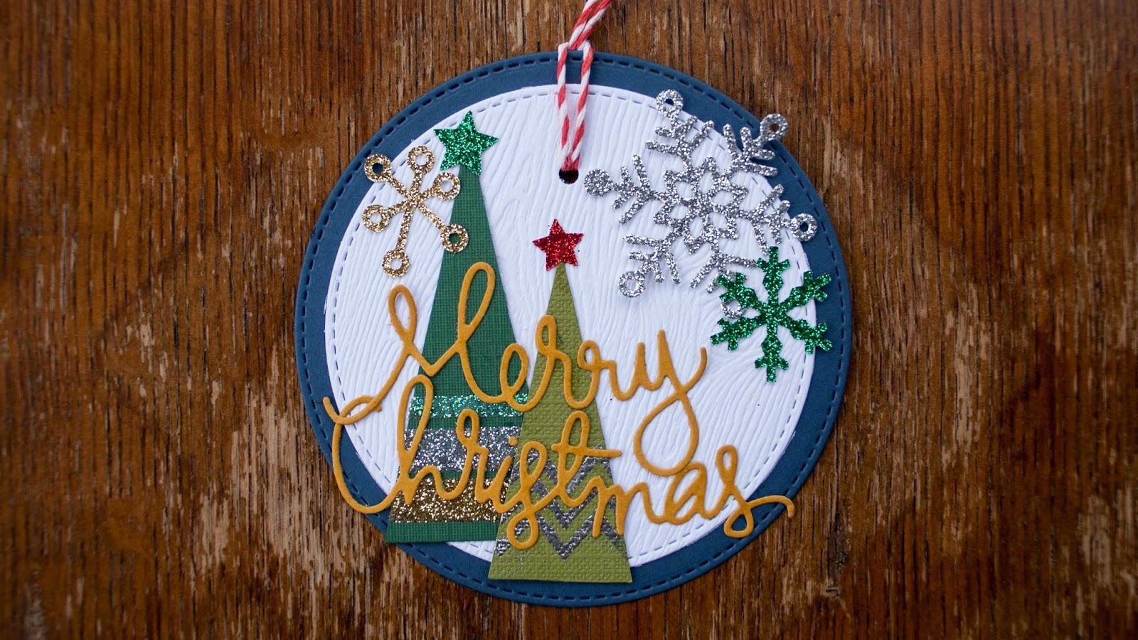 fast christmas ornaments using handmade triangle holiday trees navy color