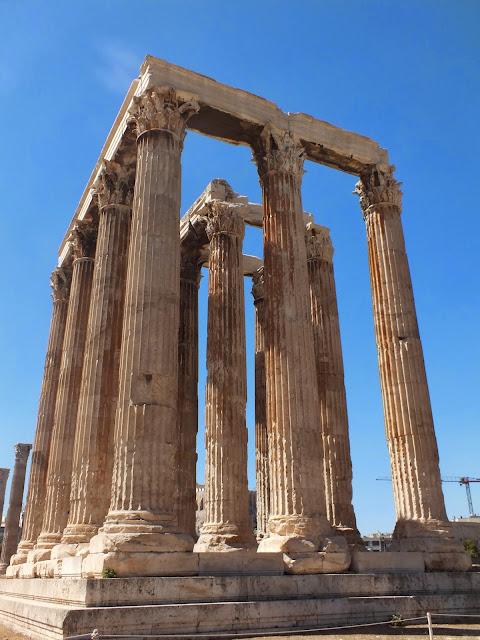 columnas del templo de zeus atenas