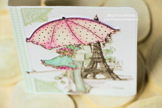 """Скрапбукинг. Обложка на паспорт """"Жизнь прекрасна"""". Мила Валентова."""
