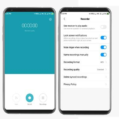 xiaomi MIUI voice recorder reviews