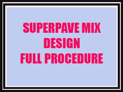 Superpave Asphalt Mix Design Ministry of Transport Saudi Arabia