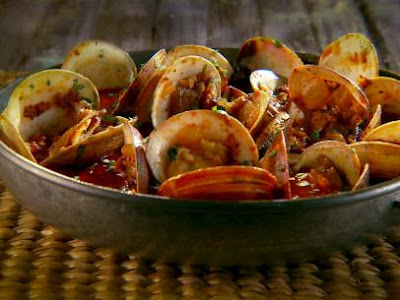 http://www.foodnetwork.com/recipes/marcela-valladolid/steamed-clams-with-chorizo-and-tequila-recipe.html