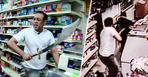 Entra a robar con espada y lo sorprenden con una más grande