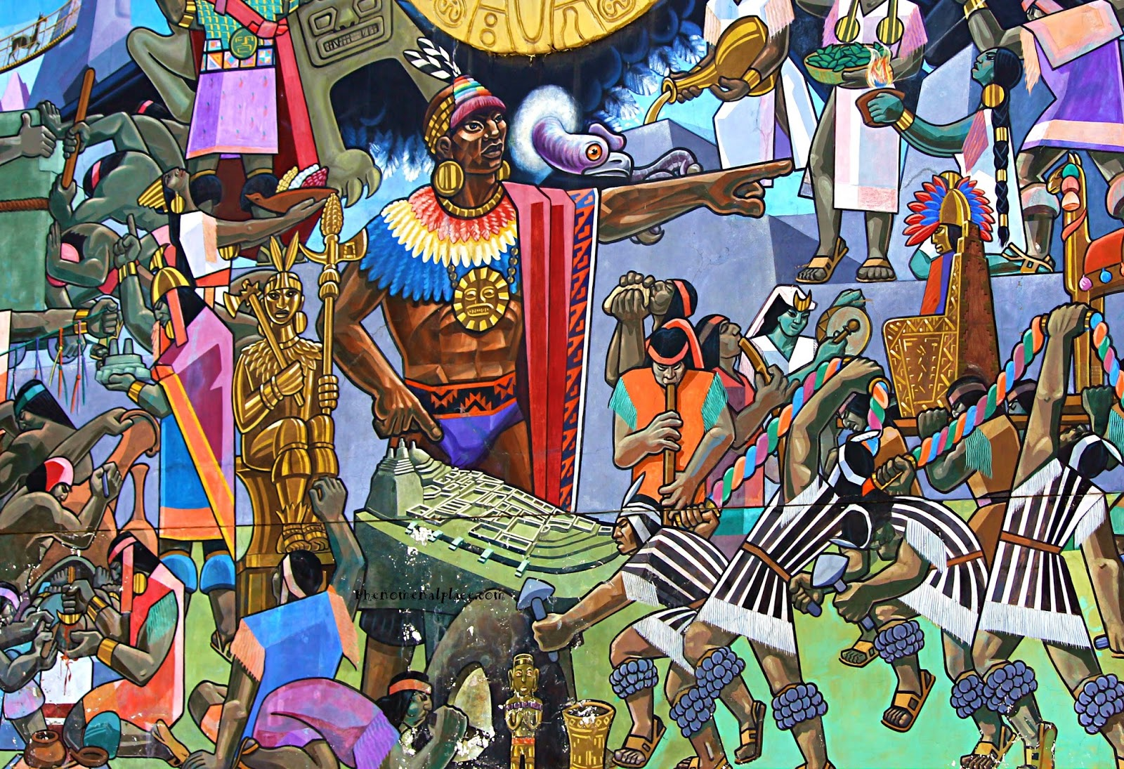 Psychedelic Wall Murals Cusco Mural By Juan Bravo Shows Amazing History Of Peru