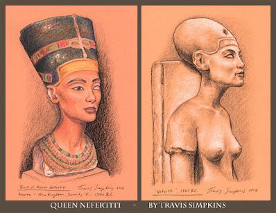 Queen Nefertiti. Ancient Egypt. The Egyptian Museum, Berlin. by Travis Simpkins