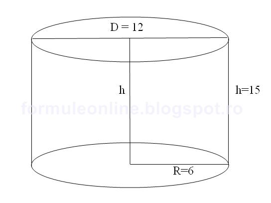 volumul cilindrului problema rezolvata