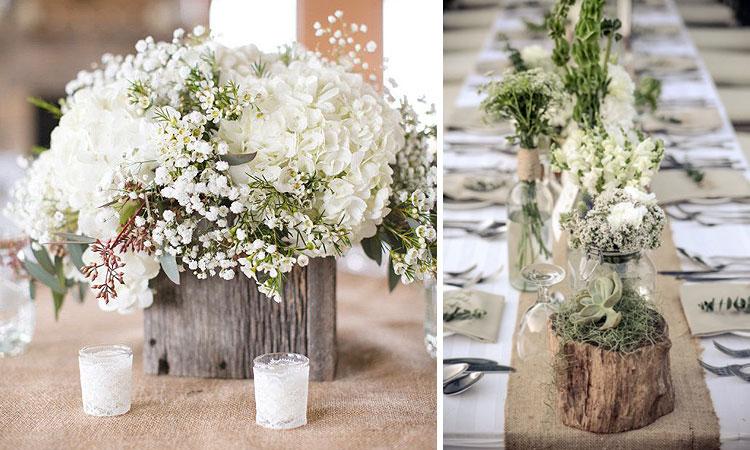 Marzua decoraci n de bodas arreglos florales para for Adornos d mesa para boda