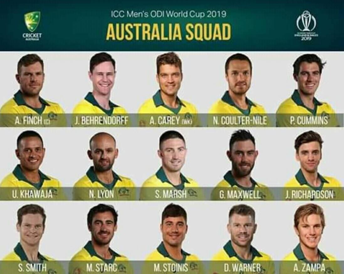 world cup 2019 australia team